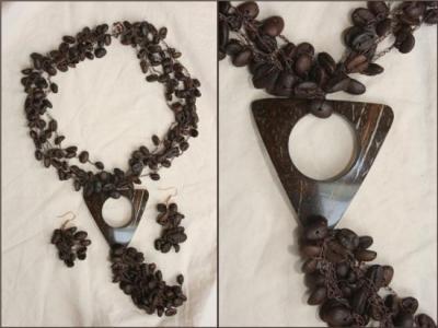 Bizuteria con Granos de Cafe