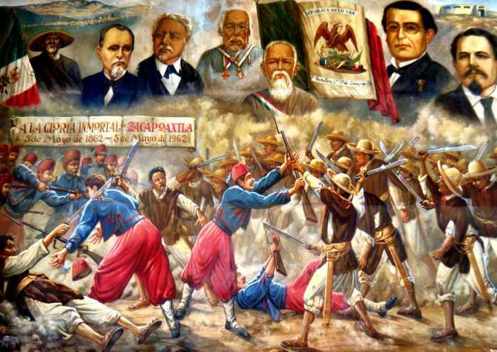 Pueblos Unidos en la Batalla del 5 de Mayo