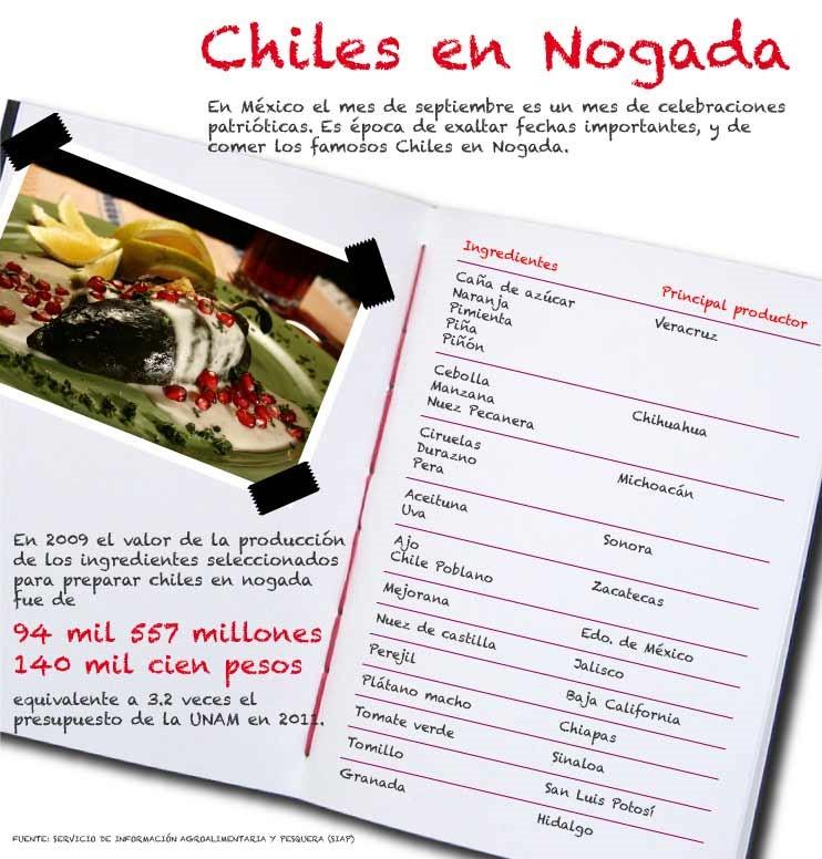 Receta Original de Chiles en Nogada