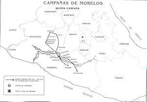 Morelos en Puebla Mapa