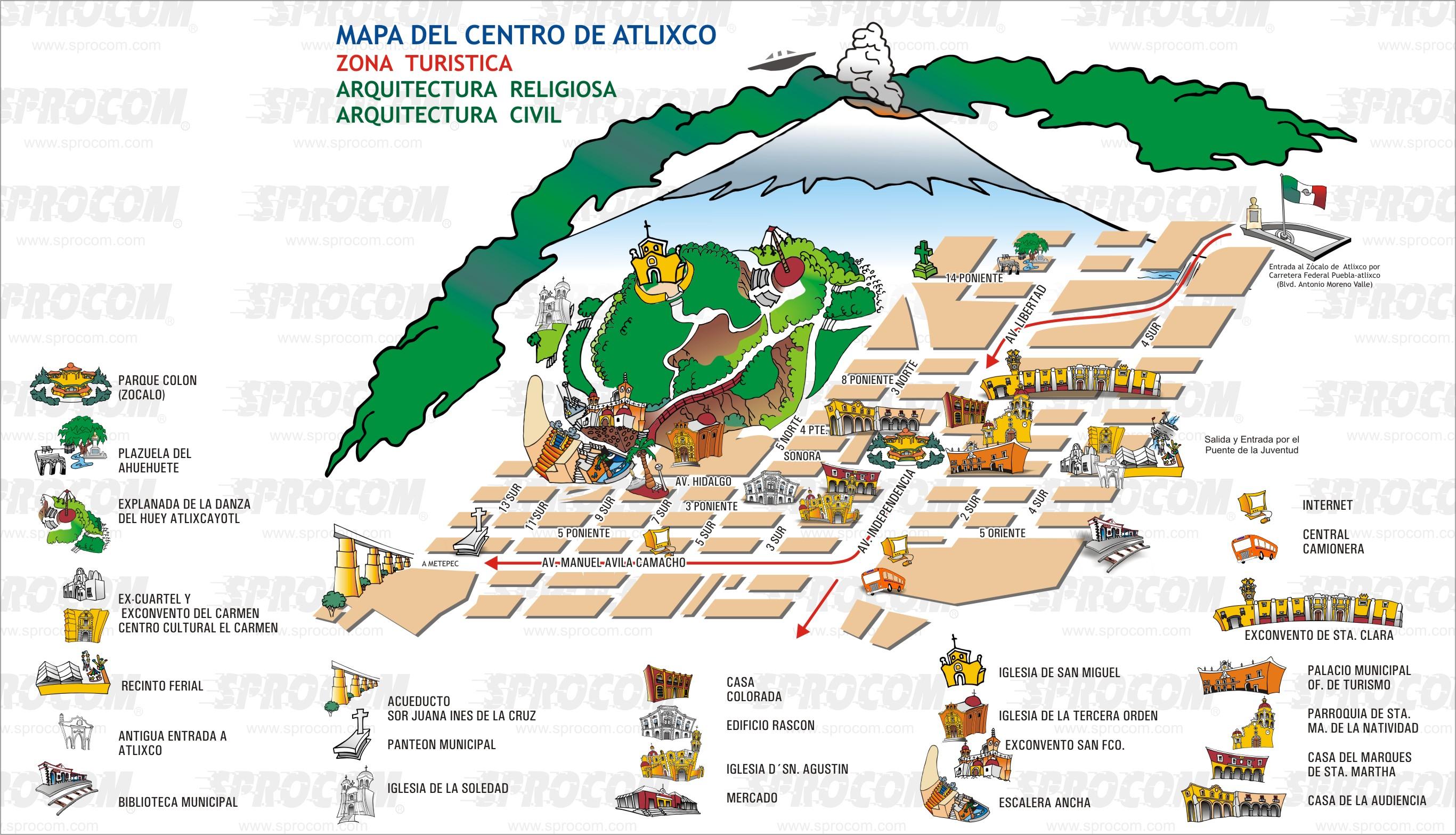 Mapa Centro de Atlixco